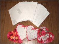 フィリピン・セブのスカラーから届いたバレンタインカード(全スカラー分)