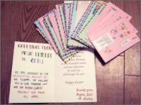 フィリピン・セブのスカラーから届いたイースターカード(全スカラー分)