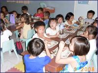 カパティには幼児教育にも力を入れています:幼稚園の様子
