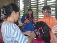 奨学生の家族への職業訓練
